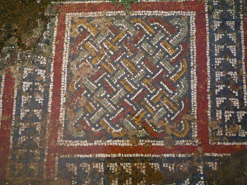 Céramique de sol à Tipasa détails